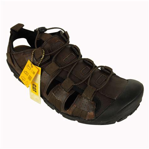 mens caterpillar cat brown leather sandal walking hiking