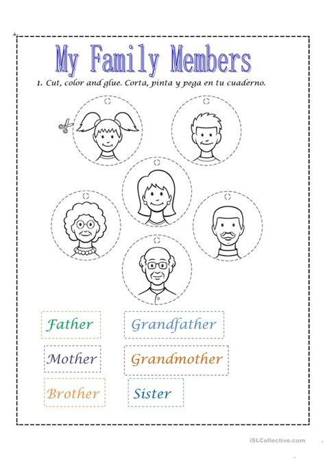 kindergarten activities on family number names worksheets 187 family worksheets for kids