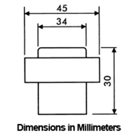 Door Stop Dimensions by Stainless Steel Modern Floor Mount Door Stop Ahi Sig721