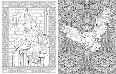 harry potter coloring book pictures harry potter colouring book from studio press the bookseller