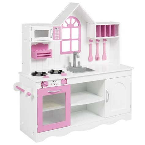 bcp wood kitchen toddler pretend play set solid