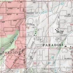 paradise butte county california populated place