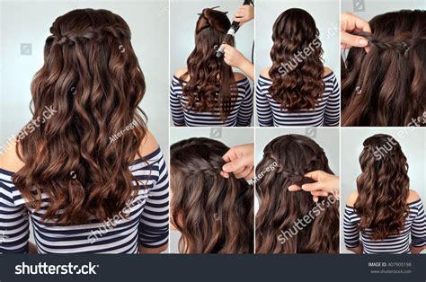 Cascade Hairstyle by Royalty Free Hairdo Cascade Braid On Curly Hair
