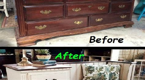 DIY Old Dresser Into A Gorgeous Bench With Storage Drawers