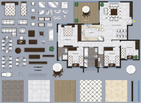 2d furniture floorplan top down view psd 3d model cgtrader texture other 2d floor plan