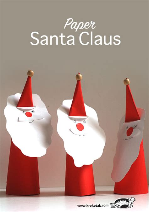 santa claus crafts for paper santa claus and winter craft for