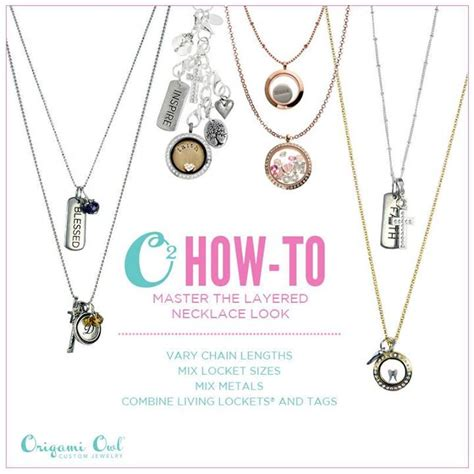 Origami Owl Necklace Lengths - how to master the layered necklace look with origami owl