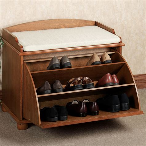 shoe caddy bench ayden shoe storage bench