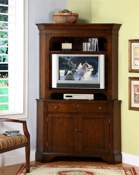 corner cabinet tv stand hutch 1000 ideas about corner tv cabinets on wood