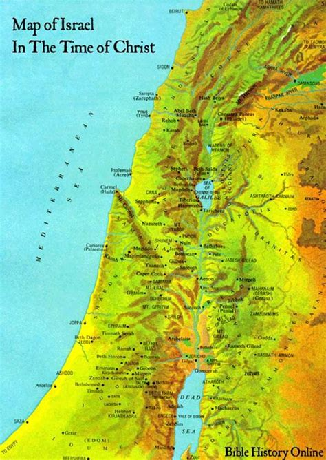map of ancient jerusalem in jesus time map of israel in the time of bible maps