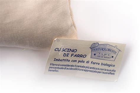 cuscino al farro cuscino con farro bio 80x40cm cura corpo donna