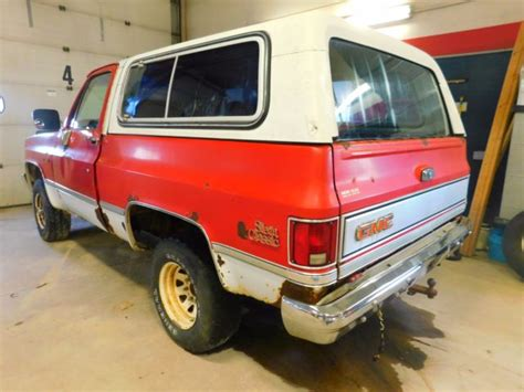 1985 gmc jimmy for sale 1985 gmc jimmy classic t1255210