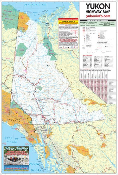 yukon river map yukon map large detailed map highways rivers