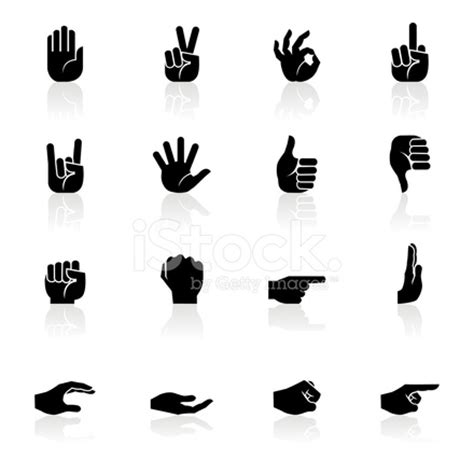 black symbols hands stock vector freeimages.com