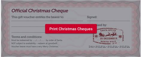 free gift cheques pledge to do something
