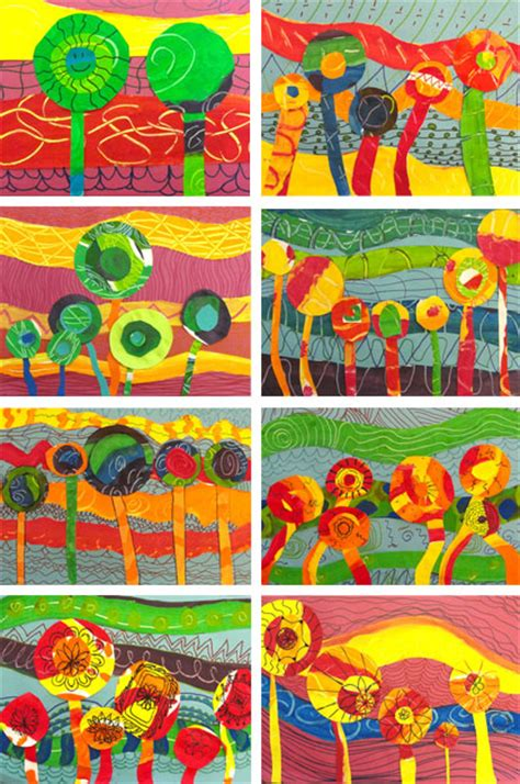pattern art class hundertwasser inspired art lessons deep space sparkle