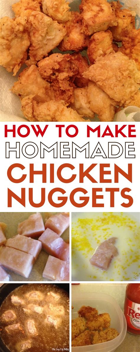 How To Make A Handmade - how to make chicken nuggets the crafty stalker