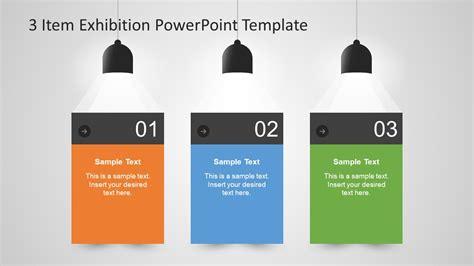 3 Item Exhibition Powerpoint Template Slidemodel Exhibition Template