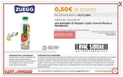 coupon alimenti buoni sconto succhi di frutta zuegg light scontomaggio