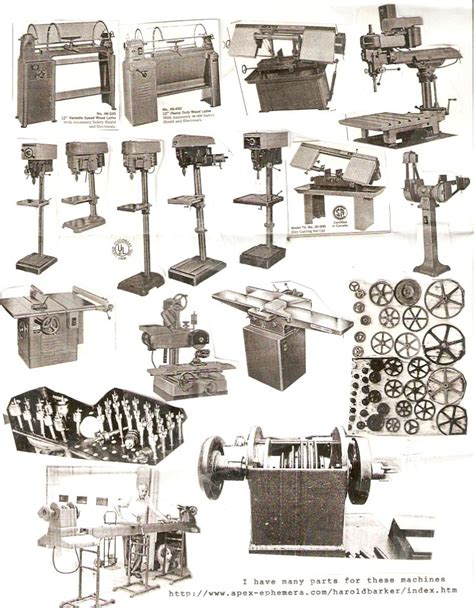 woodwork catalog harold barker antique tool machine catalogs parts
