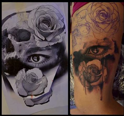 eye tattoo with skull off the map tattoo antons feduns tattoos page 1