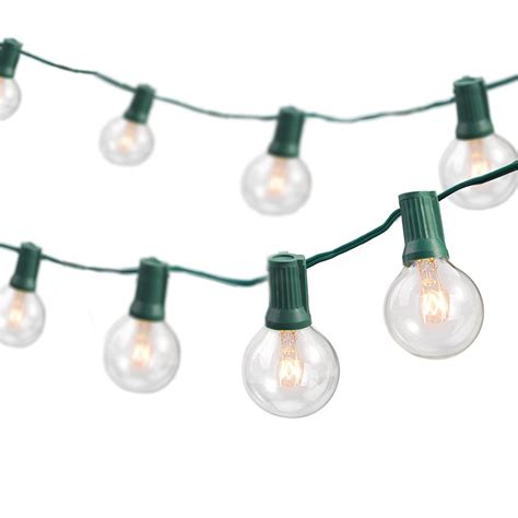 string of light bulbs outdoor newhouse lighting weatherproof string 25 ft light