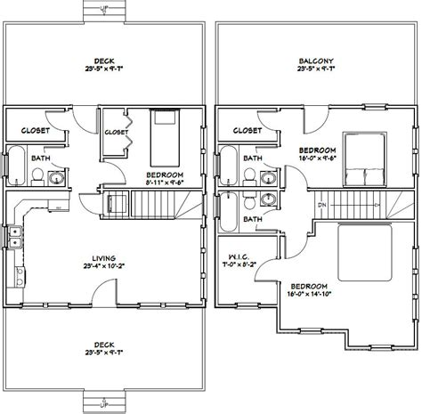 24x24 Lincoln Certified Floor Plan 24 X 24 House Plans Escortsea