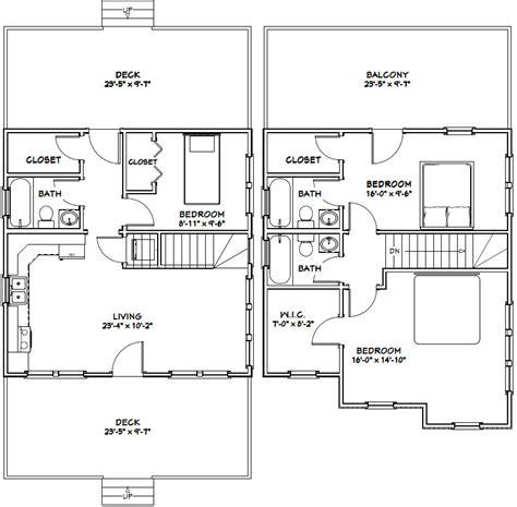 24x24 lincoln certified floor plan 24 x 24 house plans escortsea