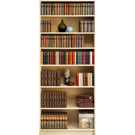 shop allen roth bookshelf mural at lowes