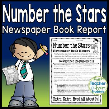 number the book report number the project create a newspaper book report