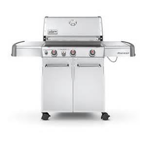 Backyard Grill Stainless Steel 5 Burner Gas Grill Shop Weber Genesis S 330 Stainless Steel 3 Burner 38 000