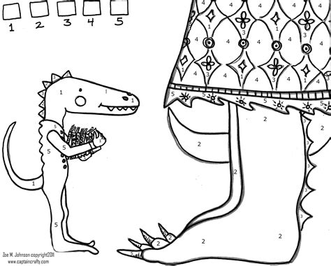 dinosaur coloring pages color by number 7 best images of dinosaur color by numbers printable
