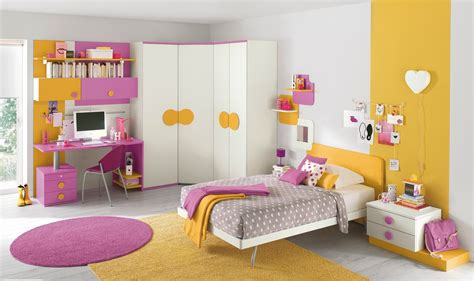 kids design bedroom pink yellow girls bedroom interior design ideas