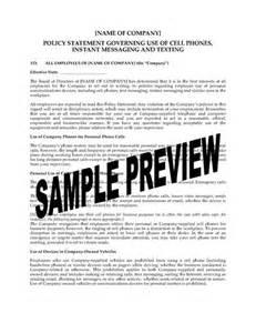 cell phone policy template cell phone use messaging and texting policy statement
