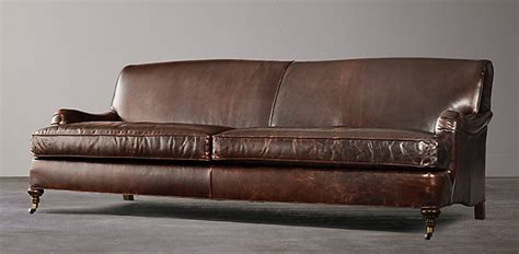 Distressed Leather Sofa Restoration Hardware Infosofa Co Leather Sofa Repair Company