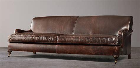 Leather Sofa Repair Company Distressed Leather Sofa Restoration Hardware Infosofa Co