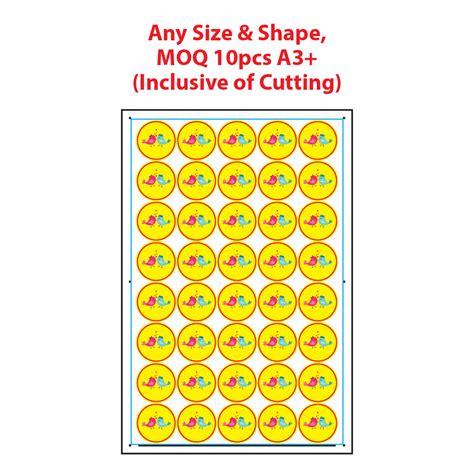digital a3 sticker printing marketing products