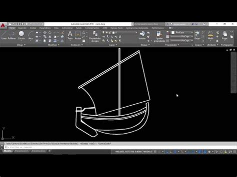 un barco youtube autocad dibujo de un barco youtube
