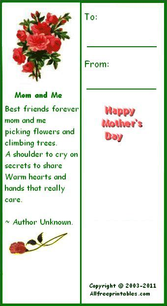 printable bookmarks mother s day mother s day printables mother s day cards coupon books