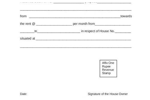 house rent receipt format income tax download