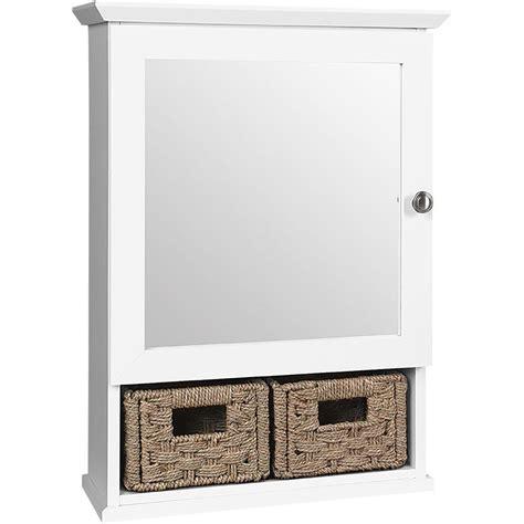 white bathroom basket glacier bay 19 3 4 in x 27 3 4 in framed surface mount