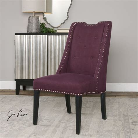 Purple Accent Chair Uttermost Pippa Accent Chair In Purple 23292