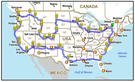 us best road trip map across the usa in just 5 minutes best road trip ever