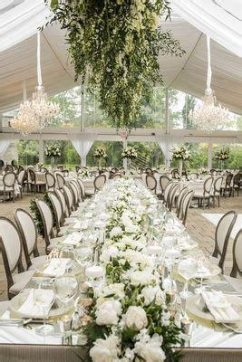 romantic garden wedding  white green motif