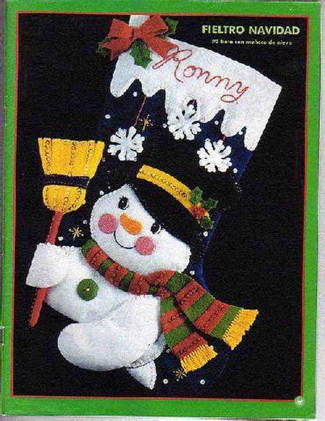 imagenes navidad en fieltro patrones y moldes de botas y botitas para navidad en