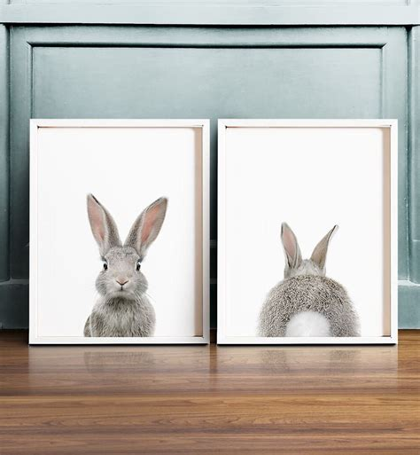 kinderzimmer deko giraffe set of 2 bunny prints printable wall the crown