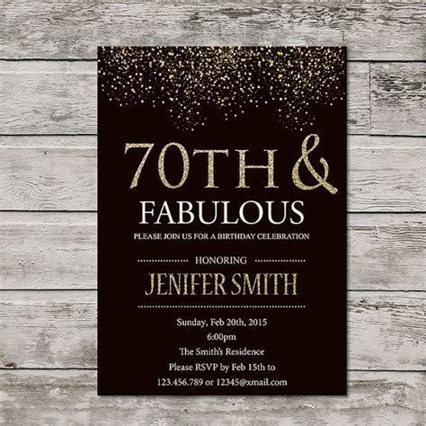 printable birthday invitations for 70th 17 best ideas about 70th birthday invitations on pinterest