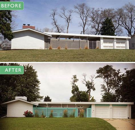 mid century house alesha restores the original 1961 exterior paint colors on