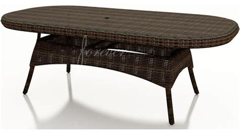 wicker forever patio leona 84 quot oval dining table with