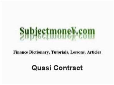 oklahoma pattern jury instructions quasi contracts business contract law what is the